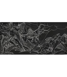 """WAROQUIER Henri de """"Femmes et oiseaux"""" - Eau-forte et pointe-sèche signée.."""