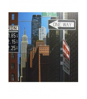 """PEYRET Eric """"10 Avenue"""" - Acrylique sur toile signée."""