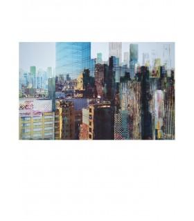 """SALZMANN Gottfried """"Reflets"""" - Peinture, Technique mixte sur photo"""