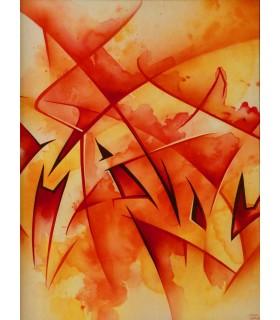 """MadC """"Nineteen Ten"""" - Acrylique et bombe aérosol"""