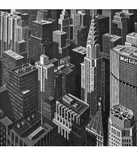 """PEYRET Eric """"B&W Chrysler"""" - Acrylique sur toile signée"""